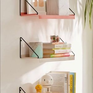 (TURQUOISE) Urban Outfitter metal wall shelf